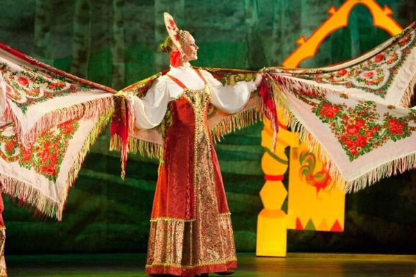 "Folklore show ""Russia In Fairytales"" in Youth House on Vasilyevsky Island in Saint-Petersburg"