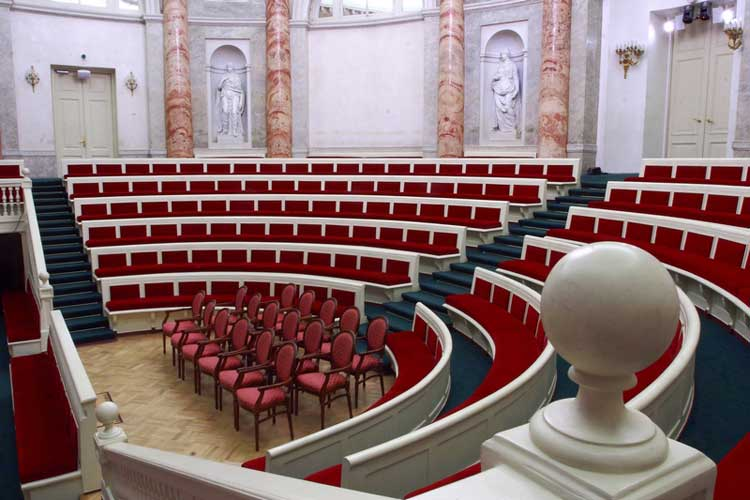 Seating plan of the Hermitage Theater