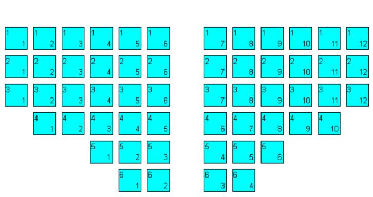 План зала Дома Кочневой с нумерацией мест